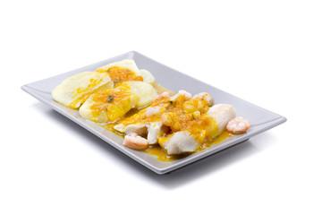 hake yellow sauce