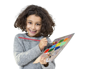 Little girl with palette
