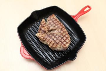 Cooking of beef blade steak