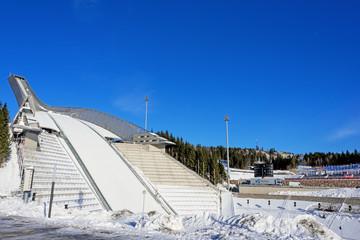 Holmenkollen ski jump in Oslo Norway