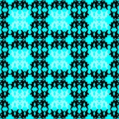 Illustration of black and blue lattice pattern