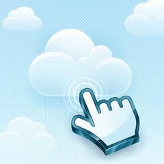 Cloud Computing Hand Cursor