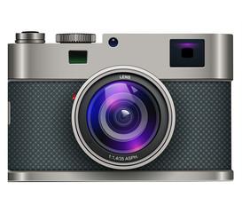 photo camera isolated, retro design