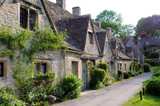 Traditional old houses in English countryside of Cotswolds - 78198824