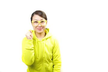 応援している日本人女性