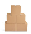box package delivery cardboard carton stack - 78199851