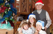 happy family in christmas