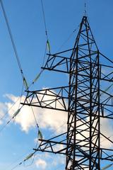 electric pillar against the sky