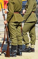 Soldiers in World War I uniform
