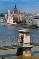 Ungarn, Budapest, Stadtansicht, Kettenbrücke