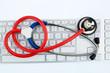 Stethoskop und Tastatur
