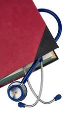 Buch und Stethoskop
