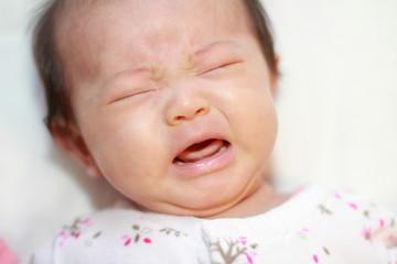 赤ちゃん(0歳児)の泣き顔