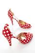 canvas print picture - Damen Schuhe High Heels