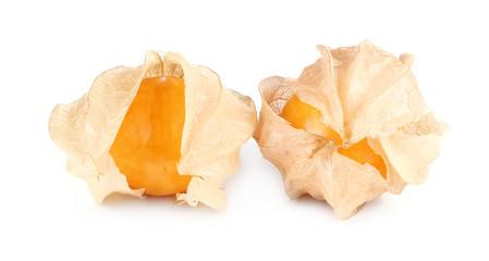 Physalis fruit, Cape berry fruit isolated on white