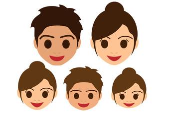家族の表情