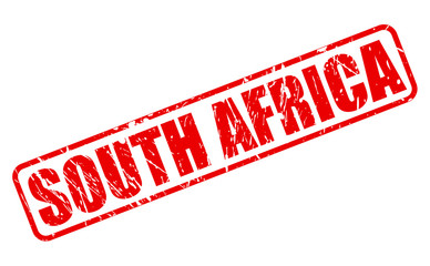 South africa red stamp text
