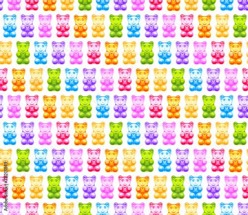 Fototapeta Bright gummy bears seamless pattern