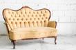 canvas print picture - Brown Retro Sofa