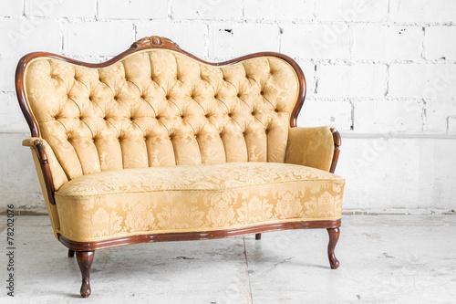 canvas print picture Brown Retro Sofa
