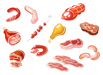Cartooned sausage and meat products