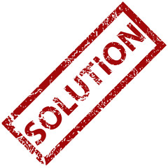 Solution rubber stamp