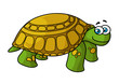 Green cartoon turtle with yellow spots - 78202677