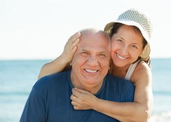 Mature couple at sea beach