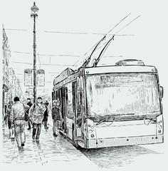 trolleybus stop