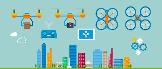 Drone vector drones