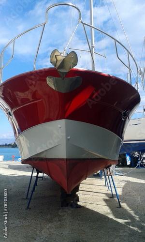 Foto op Plexiglas Water Motorsp. Motor Boat Maintenance