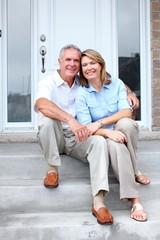 Senior couple at home.
