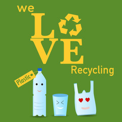 The plastic recycle poster
