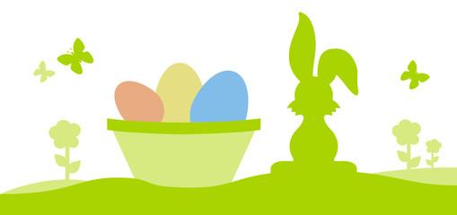 easter bunny coloured eggs