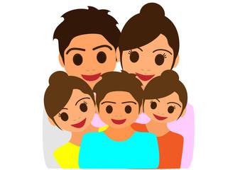 家族のイラスト素材