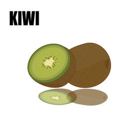green kiwi with font