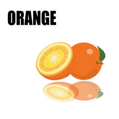 orange with font