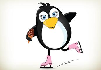 Iceskating Penguin