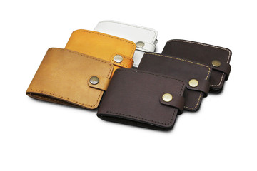 leather wallet isolated