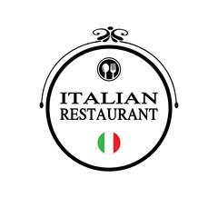 italian restaurant label