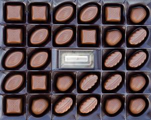 chocolates close up