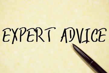 expert advice text write on paper