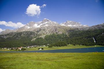 Kitesurfing a St. Moritz