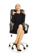 Businesswoman sitting on chair