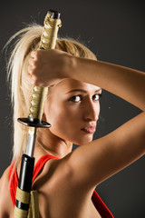 Beautiful Woman With Katana