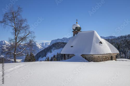 Leinwandbild Motiv Kapelle Hl. Benedikt auf dem Bödele