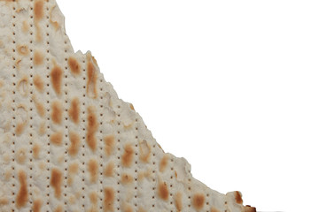 Traditional Jewish holiday food - Passover matzo background