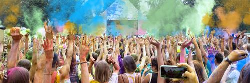 Foto op Plexiglas Bedehuis Holi Festival