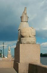 Sphinxes at the Universitetskaya Embankment, Saint Petersburg
