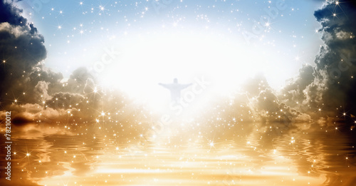 Leinwandbild Motiv Jesus Christ in heaven